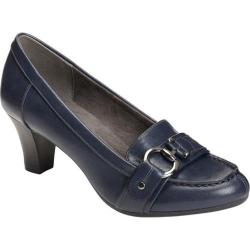 Women's A2 by Aerosoles Shore Start Pump Navy Faux Leather