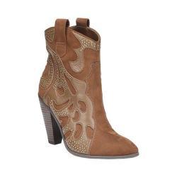 Women's Carlos by Carlos Santana Sterling Bootie Bourbon Leather/Fabric (Option: US Women's 10 M (Regular))