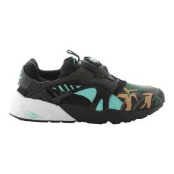 Men's PUMA Atmos X Puma Disc Blaze Night Jungle Sneaker Black/Electric Green