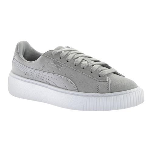 98d49b206ec Shop Women s PUMA Suede Platform Safari Sneaker Quarry Quarry - Free  Shipping Today - Overstock - 17407894