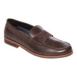 Men's Rockport Cayleb Penny Loafer Dark Bitter Chocolate Leather