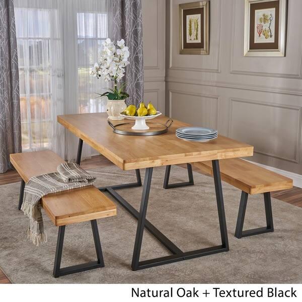 Shop Oziel Farmhouse 3-piece Cottage Dining Set by ...