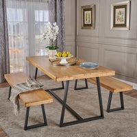 Shop greenway 3 piece wood dining set by christopher knight home oziel farmhouse 3 piece cottage dining set by christopher knight home watchthetrailerfo