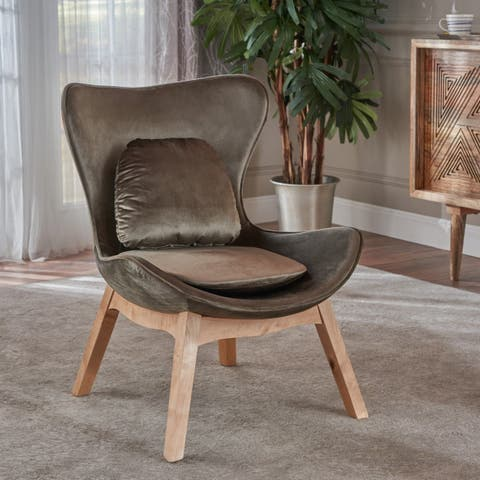 Nettie Mid Century Modern Velvet Accent Chair by Christopher Knight Home