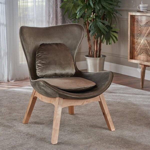 Shop Nettie Mid Century Modern Velvet Accent Chair By
