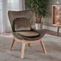 Nettie Mid Century Modern Velvet Accent Chair by Christopher Knight Home