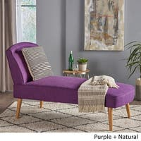 Carisia Mid Century Modern Fabric Chaise Lounge by Christopher Knight Home
