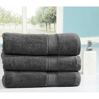 Casa Platino 100 Percent Combed Cotton Oversized Bath Sheets 3 Pack