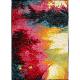 """Home Dynamix Splash Brightly Colored Abstract Round Area Rug - 7'10"""""""