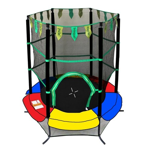 "ExacMe Youth Jumping 55"" Trampoline Exercise Safety Pad Enclosure Combo Kids"
