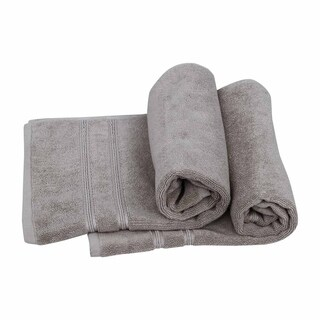 Just Linen Luxury Hotel & Spa Collection 100% Cotton Super Absorbant Bath Mat 20 x 30 Inches, Sand, Set of 2