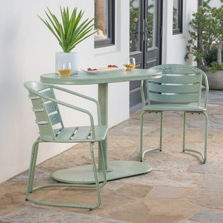 Santa Monica Outdoor 3-Piece Oval Bistro Chat Set by Christopher Knight Home (3 options available)