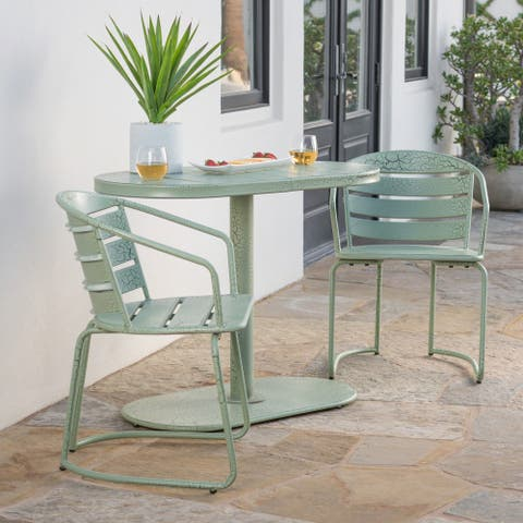 Santa Monica Outdoor 3-Piece Bistro Set by Christopher Knight Home