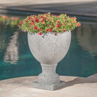 Shira Outdoor Cast Stone Urn by Christopher Knight Home