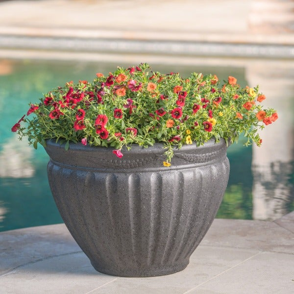 Dante Outdoor Cast Stone Planter By Christopher Knight Home