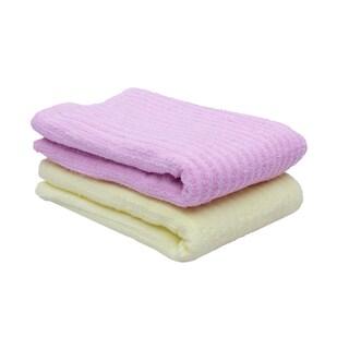 Just Linen Light Weight Medium Sized Beach Pool Towels,100 % Cotton Super Soft , Yellow & Pink , Set of 4
