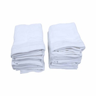 Just Linen Luxury Hotel & Spa Towels- 100 % Cotton Soft & Elegant Plush Wash Towels, 13 x 13 Inches, White, Set of 10