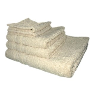 Just Linen Luxury Terry Towels 100 % Cotton Soft & Elegant,Set of 5 (3 options available)