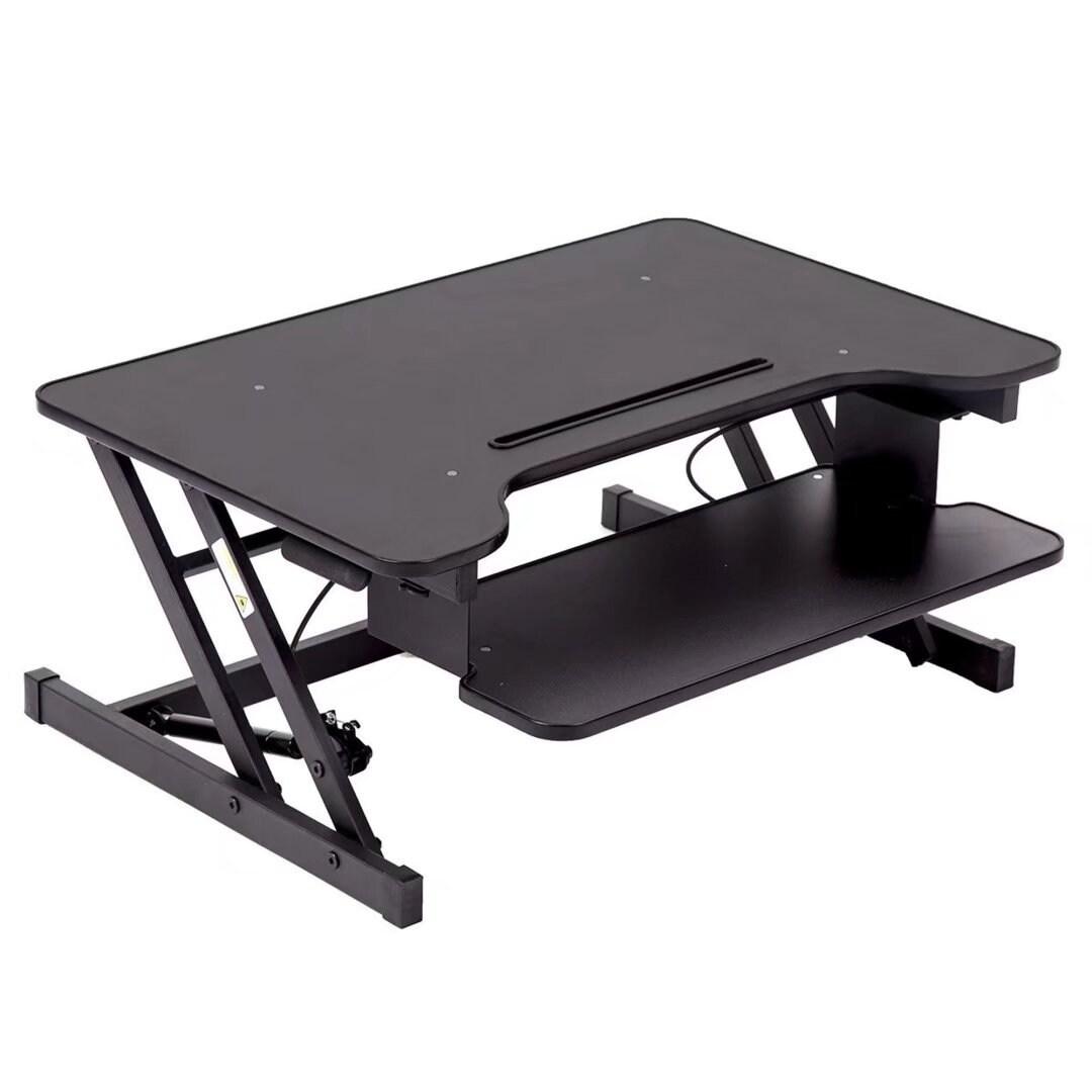 32Platform Height Adjustable Desk Riser Removable Keyboard Tray
