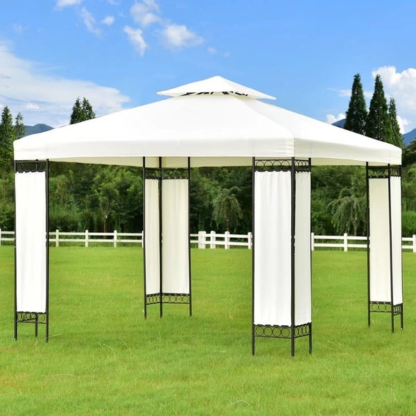 10u0026#x27;x10u0026#x27; Gazebo Canopy Shelter Patio Wedding Party Tent Outdoor