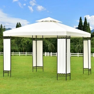 10'x10' Gazebo Canopy Shelter Patio Wedding Party Tent Outdoor Awning