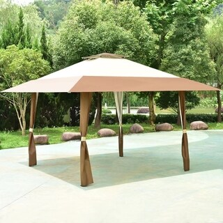 13'x13' Folding Gazebo Canopy Shelter Awning Tent Patio Garden Outdoor