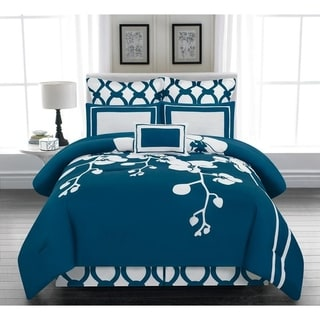 Duck River April Orchidea Flower Online 6 Piece Reversable Oversize/Overfilled Comforter Set