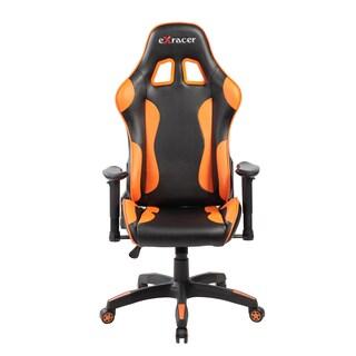 Adjustable High Back Racing Ergonomic Gaming Computer Chair with Lumbar Support (Option: Orange)