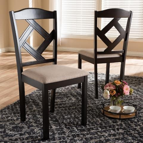 Copper Grove Monongahela Contemporary Fabric Dining Chair Set