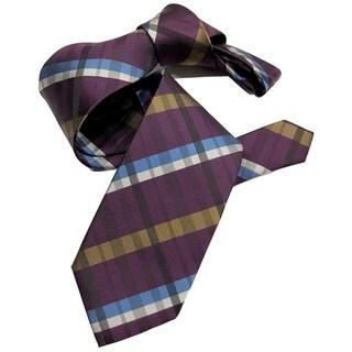DMITRY Purple Patterned Italian Silk Tie
