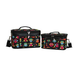World Traveler Owl 2-Piece Train Cosmetic Case Set