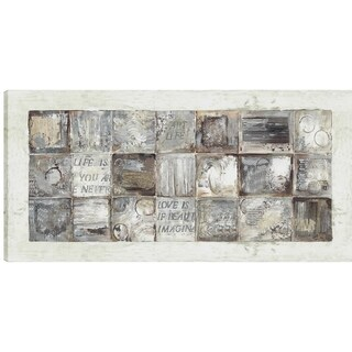 30X60 Square Abstract, Printed canvas gel coated wall art