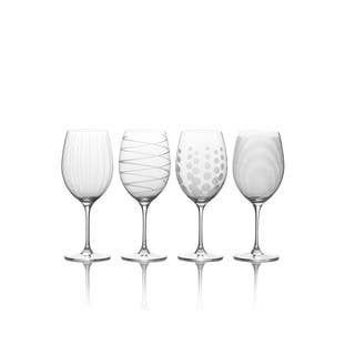 20eef53cf41 Mikasa Cheers 24oz Bordeaux Wine Glasses Set of 4