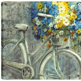 36X36 Antique Bicycle, Printed canvas gel coated wall art