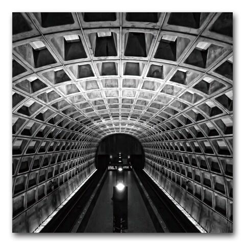 Benjamin Parker 'Metro' 24-inch Tempered Art Glass