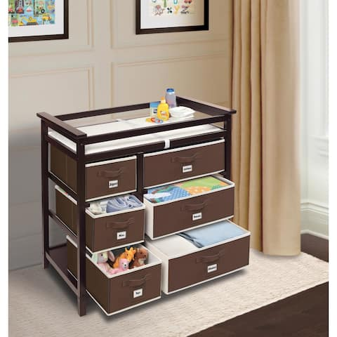 Modern Baby Changing Table With Six Baskets