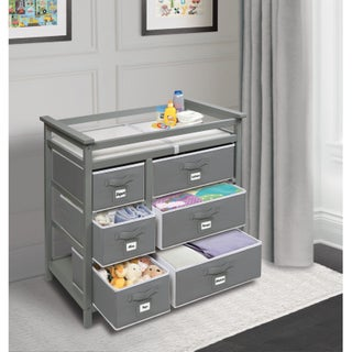 Modern Baby Changing Table with Six Baskets (3 options available)