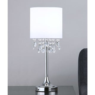 "Link to FLORENCE 22""H Crystal Pendants Table Lamp, White Similar Items in Table Lamps"
