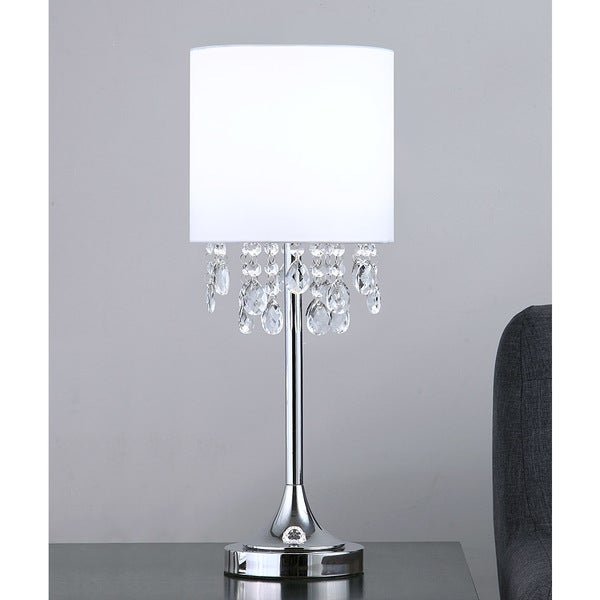 Shop florence 22h crystal pendants table lamp white free florence 22h crystal pendants table lamp aloadofball Choice Image