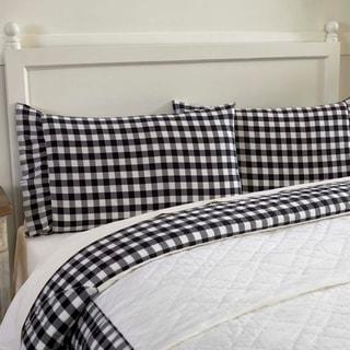 Farmhouse Bedding VHC Annie Buffalo Check Pillow Case Set of 2 Cotton Buffalo Check