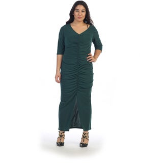 Ruched Front Plus Size Dress