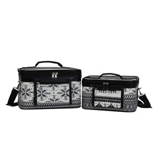 World Traveler Winter Deer 2-Piece Train Cosmetic Case Set
