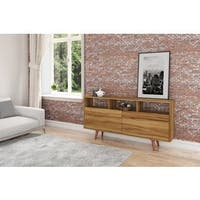 Boahaus Contemporary Side Board, Brown, 2 closed compartment, 3 open spaces