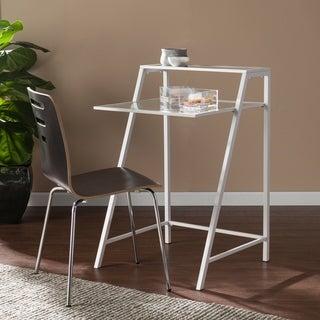Harper Blvd Loretta White Metal/Glass Laptop/Student Desk