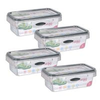 Stor-All Solutions 2.3 Cup Press & Click Rectangle Food Storage- 4 Pack