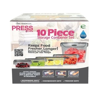Stor-All Solutions 10 Piece Press & Click Food Storage Set