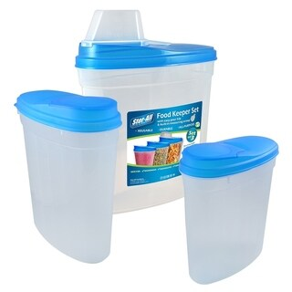 Stor-All Solutions Assorted Food Keeper w/ Scoop Lid Set 3-Pack