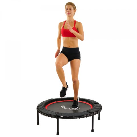 """Sunny Health & Fitness 41"""" Portable and Steel Framed Trampoline with Premium High Bouncing Bungee Cords"""