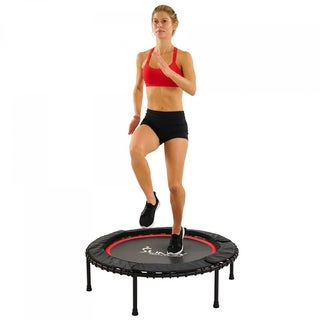 "Sunny Health & Fitness 41"" Portable and Steel Framed Trampoline with Premium High Bouncing Bungee Cords"