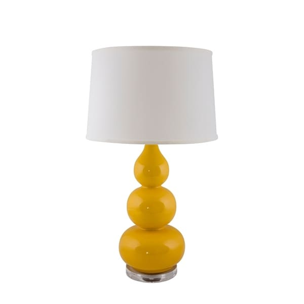 RiverCeramic® Triple Gourd lamp curry with Acrylic Base